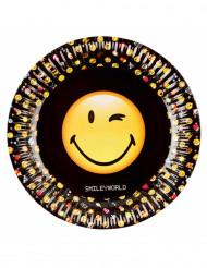 8 Pratos de cartão Smiley Emoticons™