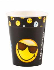8 Copos de cartão Smiley Emoticons™