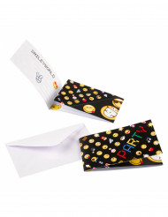 8 Convites com envelopes Smiley Emoticons™
