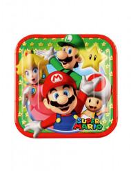 8 Pratos pequenos de cartão Super Mario™