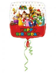 Balão alumínio Happy Birthday Mario Bros™