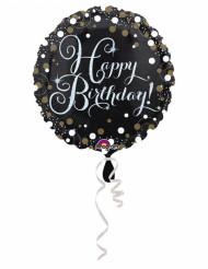 Balão alumínio Happy Birthday cintilante