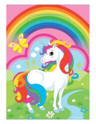 8 Sacos de festa  unicórnio arco-íris