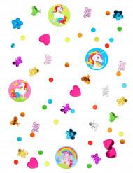 Confetis Unicórnio arco-íris