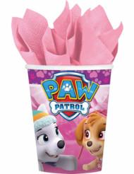 8 Copos de cartão cor-de-rosa Patrulha Pata™