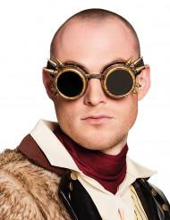 Óculos cyberpunk bronze adulto Steampunk