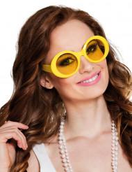 Óculos disco amarelos adulto