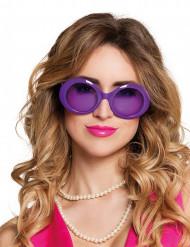 Óculos disco lilás adulto