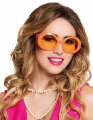 Óculos disco cor de laranja adulto