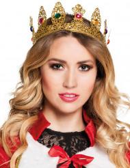 Coroa rainha com jóias falsas