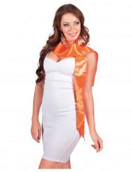 Cachecol cor de laranja com lantejoulas adulto