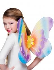 Asas borboleta coloridas menina