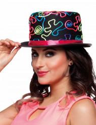Chapéu alto colorido adulto
