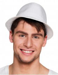 Chapéu borsalino com lantejoulas brancas adulto