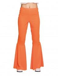Calças disco cor de laranja mulher