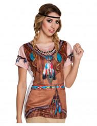 T-shirt índia mulher