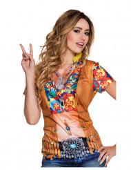 T-shirt hippie mulher