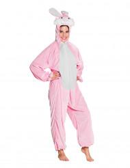 Disfarce coelho cor-de-rosa e branco adolescente