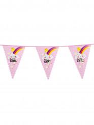 Grinalda bandeiras baby girl 6 m