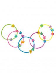 5 Pulseiras borboletas coloridas