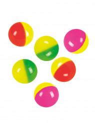 6 Bolas saltitantes coloridas 3 cm