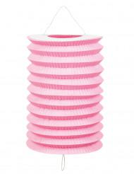 12 Lanternas cor-de-rosa 20 cm
