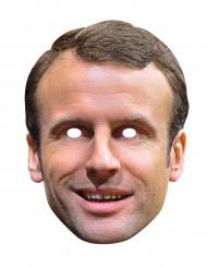 Máscara de cartão Emmanuel Macron