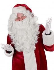Peruca e barba de Pai Natal Luxo Adulto