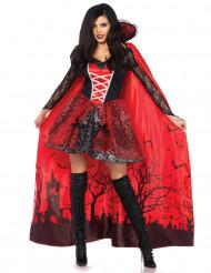 Disfarce vampira com capa destacável mulher Halloween