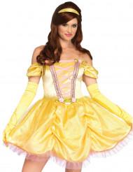 Disfarce princesa encantada amarelo mulher