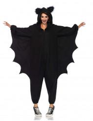 Disfarce kigurumi morcego mulher Halloween