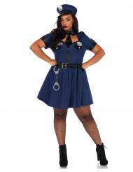 Disfarce polícia azul mulher