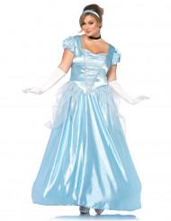 Disfarce princesa vestido azul mulher