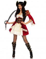 Disfarce pirata vermelha sexy mulher
