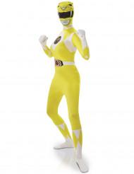 Disfarce segunda pele Power Rangers™ Amarelo mulher