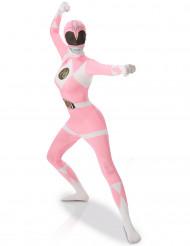 Disfarce segunda pele Power Rangers™ Cor-de-rosa mulher
