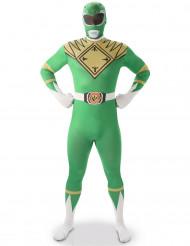 Disfarce segunda pele Power Rangers™ Verde homem