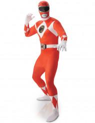 Disfarce segunda pele Power Rangers™ Vermelho homem