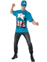 Disfarce e máscara Capitão America™ Avengers adulto