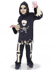 Disfarce esqueleto olhos móveis menino