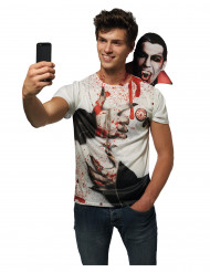 T-shirt Selfie drácula adulto halloween