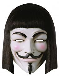 Máscara de cartão V para Vendetta™ adulto