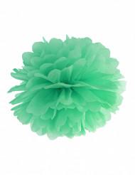 Pompom para pendurar de papel verde 25 cm