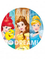 Folha de açúcar Princesas Disney™ 20 cm