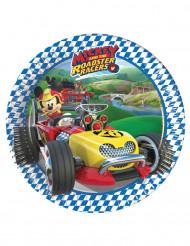 8 Pratos pequenos de cartão Mickey Racing
