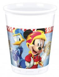 8 Copos de plástico Mickey & Donald Racing™