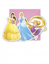 6 Convites com envelopes Princesas Disney Dreaming™