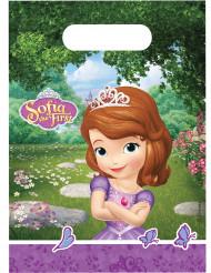 6 Sacos de festa Princesa Sofia™ 16 x 23 cm