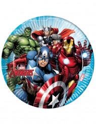 8 Pratos de cartão Avengers Mighty™ - Os Vingadores