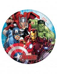 8 Pratos pequenos de cartão Avengers Mighty™